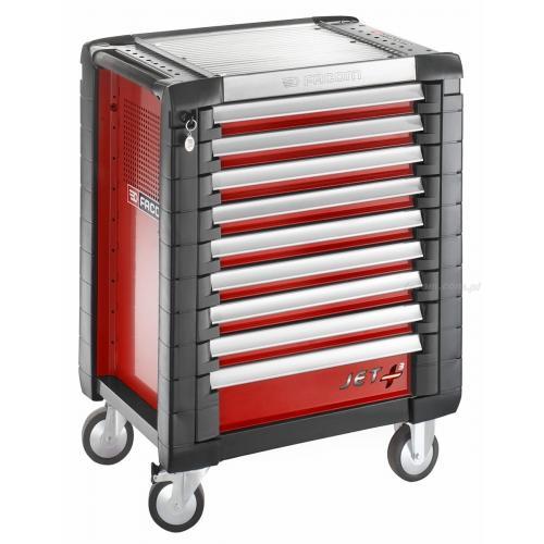 JET.9M3 - wózek JET+, 9 szuflad, 3 moduły na szufladę, czerwony