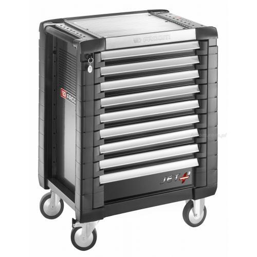 JET.9GM3 - wózek JET+, 9 szuflad, 3 moduły na szufladę, czarny