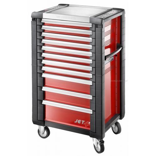 JET.11M3 - wózek JET+, 11 szuflad, 3 moduły na szufladę, czerwony