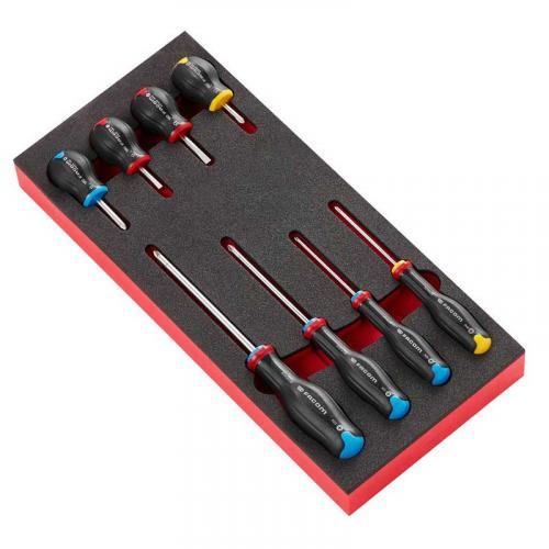 MODM.AT3 - Moduł 8 wkrętaków Protwist® do śrub z rowkiem, Phillips i Pozidriv, wkładka piankowa