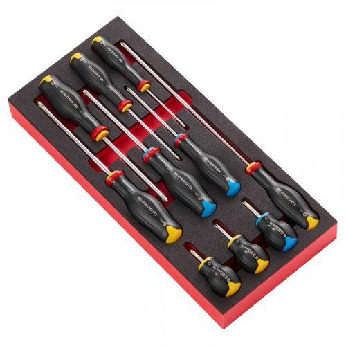 MODM.AT5 - Moduł 10 wkrętaków Protwist® do śrub Phillips i Pozidriv, PH0 - PH3, PZ1 - PZ2, wkładka piankowa