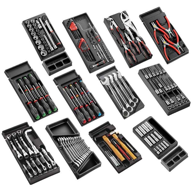 CM.V10PB - Zestaw narzędzi - 12 modułów, w systemie przechowywania na 4 szuflady wózka