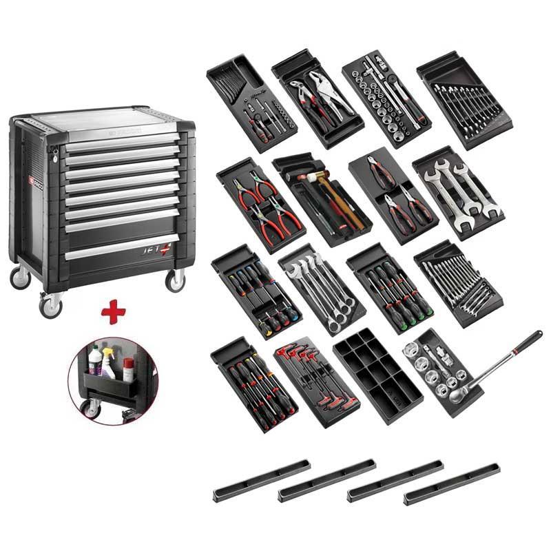 SPOTLIGHT15NKWG - Wózek narzędziowy 8 szuflad, z 15 modułami, czarny