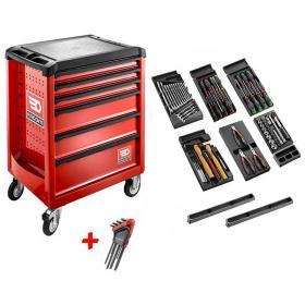 ROLL.CONTACTPB - wózek roll z wyposażeniem, czerwony