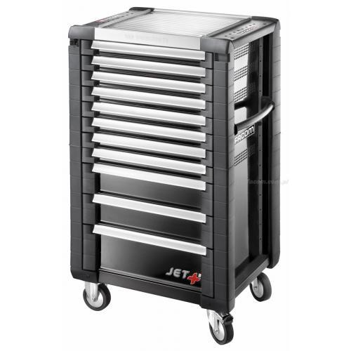 JET.11GM3 - wózek JET,+ 11 szuflad, 3 moduły na szufladę, czarny