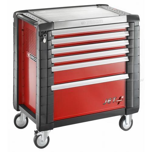 JET.6M4 - wózek JET+, 6 szuflad, 4 moduły na szufladę, czerwony