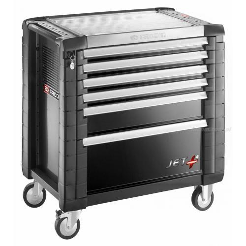 JET.6GM4 - wózek JET+, 6 szuflad, 4 moduły na szufladę, czarny