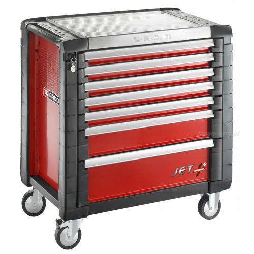 JET.7M4 - wózek JET+, 7 szuflad, 4 moduły na szufladę, czerwony