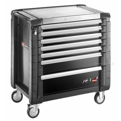 JET.7GM4 - wózek JET+, 7 szuflad, 4 moduły na szufladę, czarny