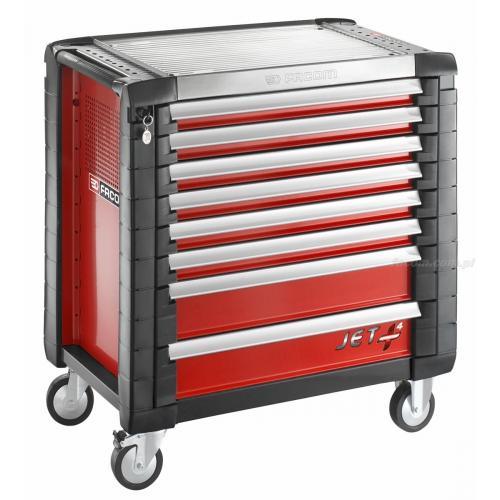 JET.8M4 - wozek JET+, 8 szuflad, 4 moduły na szufladę, czerwony