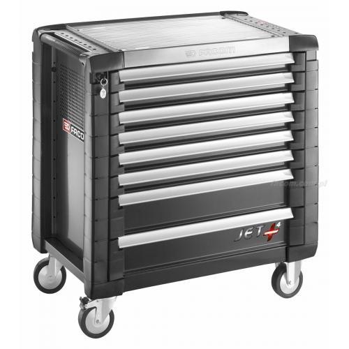 JET.8GM4 - wozekJET+, 8 szuflad, 4 moduły na szufladę, czarny