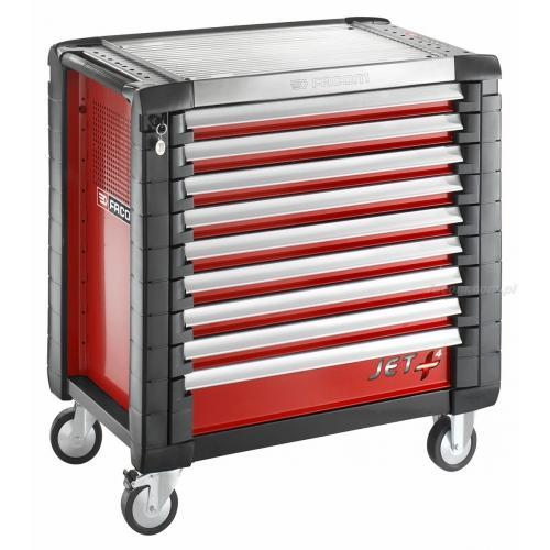 JET.9M4 - wózek JET+, 9 szuflad, 4 moduły na szufladę, czerwony