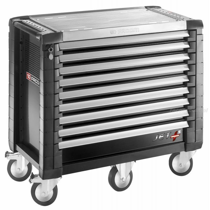 JET.9GM5 - wózek JET+, 9 szuflad, 5 modułów na szufladę, czarny