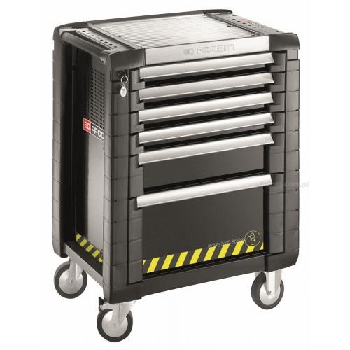 JET.6GM3S - wózek JET+, 6 szuflad, 3 moduły na szufladę, gama bezpieczna, czarny