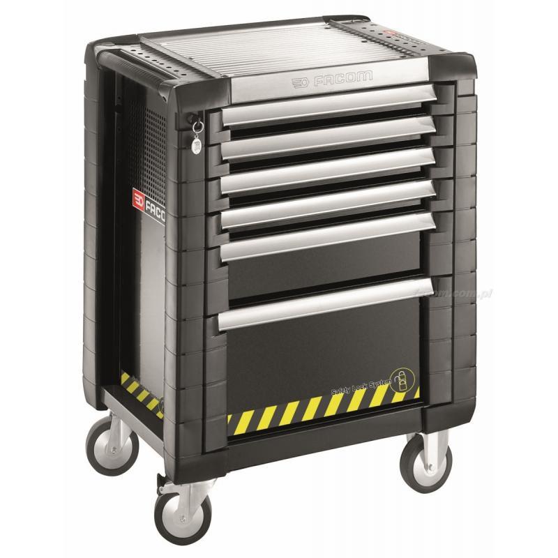 JET.6GM3S - wózek JET+, 6 szuflad, 3 moduły na szufladę, czarny