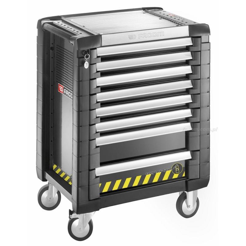 JET.8GM3S - wózek JET+, 8 szuflad , 3 moduły na szufladę, gama bezpieczna, czarny