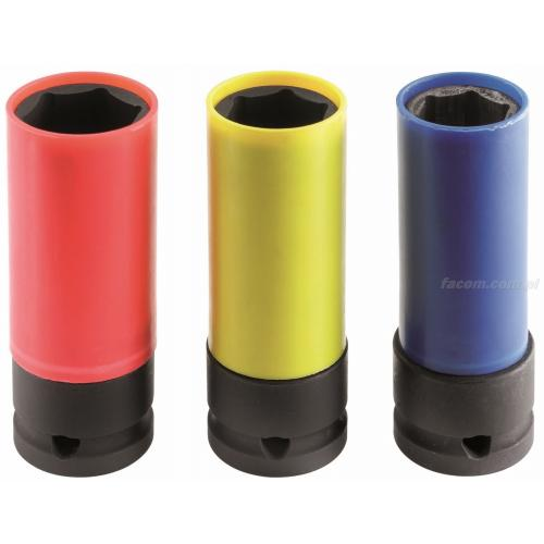 NSAL.3 - zestaw nasadek długich cienkościennych do felg aluminiowych, 17 - 21 mm