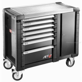 JET.T7GM3 - ruchome stanowisko pracy JET+, 7 szuflad, 3 moduły na szufladę, czarne