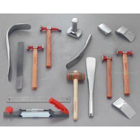 CR.858J15 - zestaw 15 podstawowych narzędzi dla profesjonalistów do formowania blach
