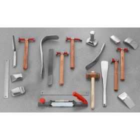 CR.858J20 - zestaw 20 podstawowych narzędzi dla specjalistów do formowania blach