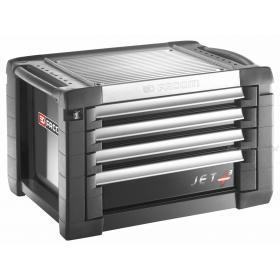 JET.C4GM3 - skrzynka JET+, 4 szuflady, 3 moduły na szufladę, czarna
