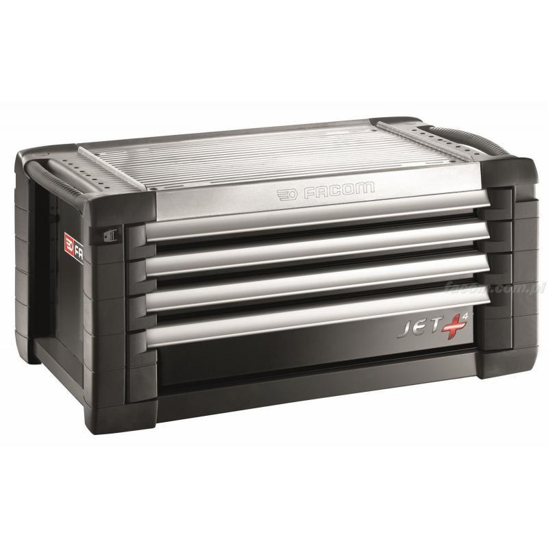 JET.C4GM4 - skrzynka JET+, 4 szuflady, 4 moduły na szufladę, czarna