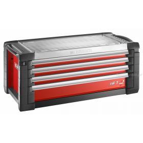 JET.C4M5 - skrzynka JET+, 4 szuflady, 5 modułów na szufladę, czerwona