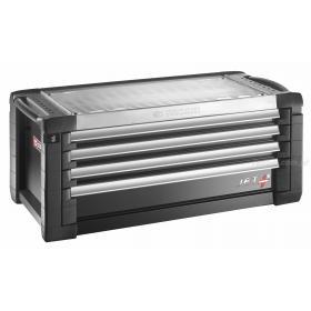 JET.C4GM5 - skrzynka JET+, 4 szuflady, 5 modułów na szufladę, czarna