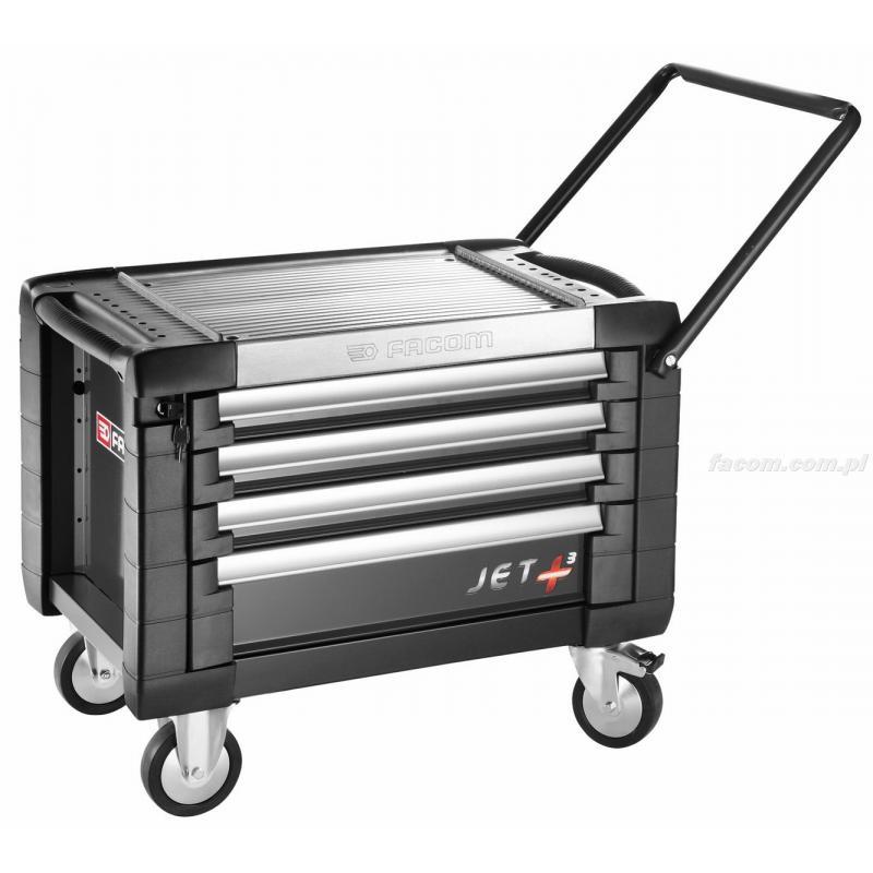 JET.CR4GM3 - skrzynka na kółkach JET+ 4 szuflady - 3 moduły na szufladę, czarna