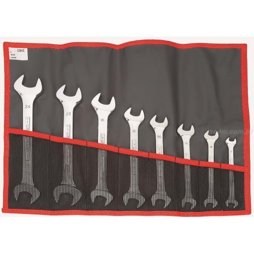 44.JE8T - Zestaw kluczy płaskich, 8x9 - 22x24 mm