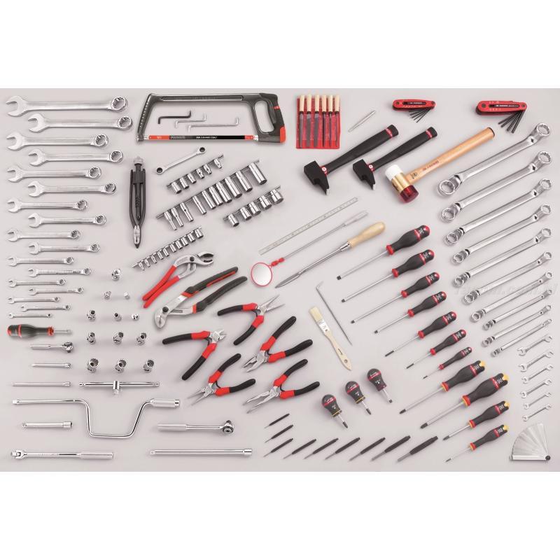 CU.AE50 - zestaw 153 narzędzi dla mechanika silnikowego
