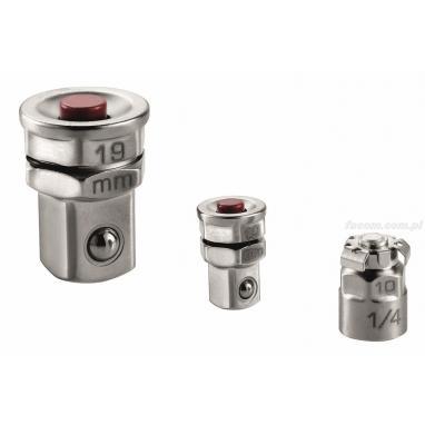 467.ADAPT10-19 - Zestaw 3 łączników do kluczy 10 i 19 mm