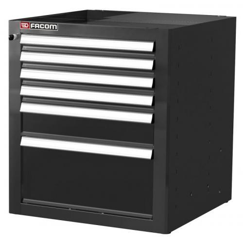 JLS2-MBS6TBS - Jetline low unit 6 drawers, black