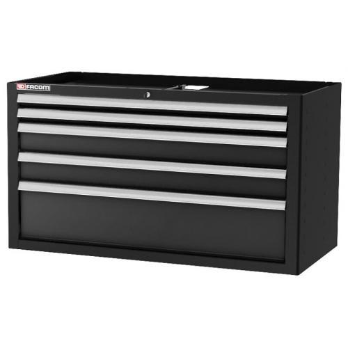 JLS2-MBD5TBS - Szafka niska Jetline+, podwójna, 5 szuflad, czarna