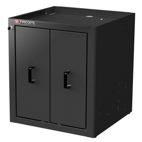 JLS2-MBS2TVBS - Szafka niska Jetline+ z 2 szufladami pionowymi, czarna