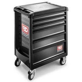 ROLL.6NM3PB - Wózek ROLL, 6 szuflad, 3 moduły na szufladę, czarny