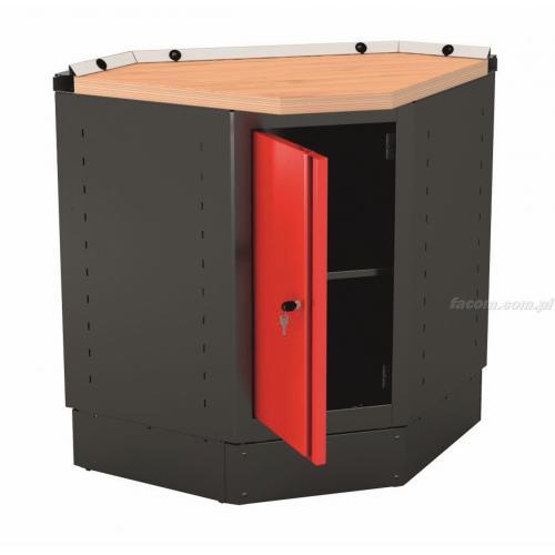 MBAPP - szafka narożna niska Jetline - z drzwiami pełnymi