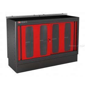 MBDPV - szafka niska Jetline - podwójna z drzwiami przeszklonymi