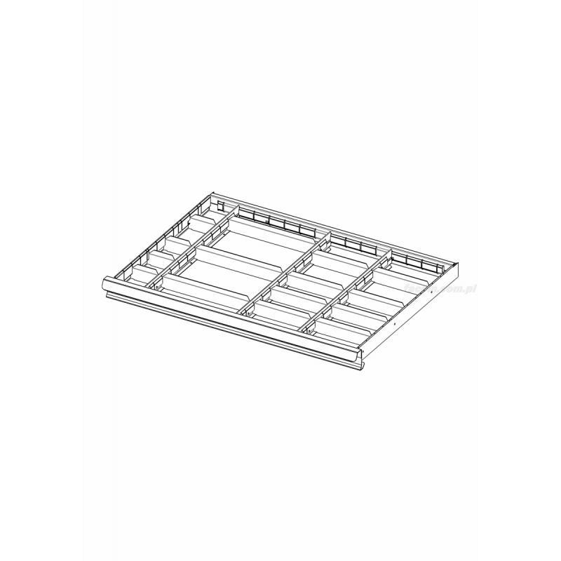 2930.C1 - zestaw 18 przegródek do szuflad 50 i 75 mm