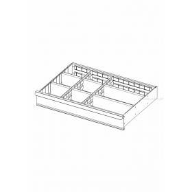 2930.C3 - zestaw 8 przegródek do szuflad 125 mm