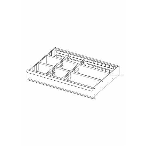 2930.C3 - SET OF 8 PARTITIONS DRAW 125MM