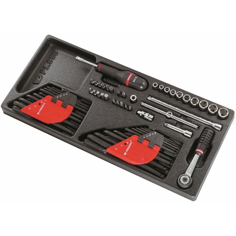 """MOD.R5 - moduł nasadek 1/4"""", klucze trzpieniowe, klucze TORX® i końcówki."""