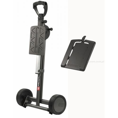 BV.C2 - wózek stanowisko pracy z płytką do mocowania walizek