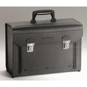 BV.7A - walizka skórzana z opuszczaną częścią przednią