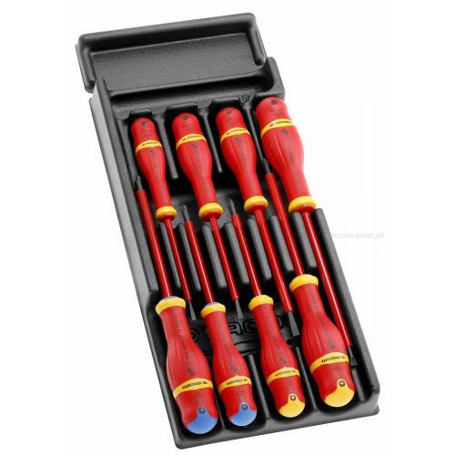 MOD.A1VE - Moduł 8 wkrętaków izolowanych PROTWIST® VE do śrub z rowkiem, Phillips i Pozidriv, 3,5 - 6,5 mm, PH1 - PH2, PZ1 - PZ2