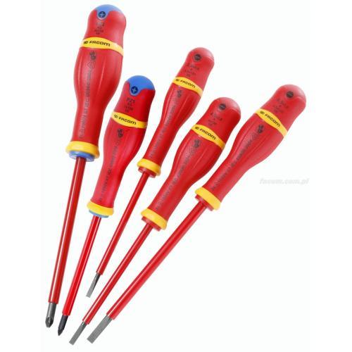 AD.J8VE - zestaw wkrętaków izolowanych PROTWIST® VE do śrub z rowkiem i Pozidriv, 2,5 - 6,5 mm i PZ1 - PZ2