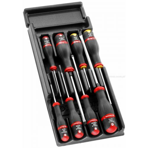 MOD.A1 - Moduł 8 wkrętaków Protwist® do śrub z rowkiem i śrub krzyżakowych Phillips, 3,5 - 8 mm i PH1 - PH2