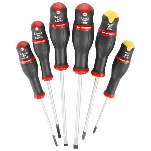ANP.J6PB - zestaw wkrętaków Protwist® do śrub z rowkiem i śrub krzyżakowych Phillips, 3,5 - 6,5 mm i PH1 - PH2