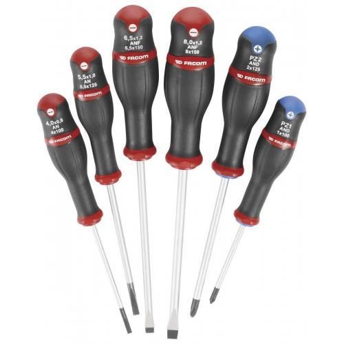 AND.J6 - zestaw wkrętaków Protwist® do śrub z rowkiem i krzyżakowych POZIDRIV, 3,5 - 6,5mm i PZ1 - PZ2