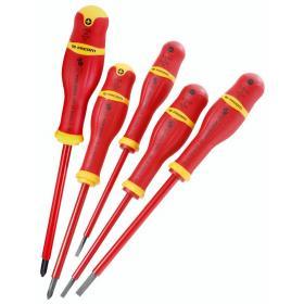 AP.J5VE - zestaw wkrętaków izolowanych PROTWIST® VE do śrub z rowkiem i Phillips, 3,5 - 5,5 mm i PH1 - PH2